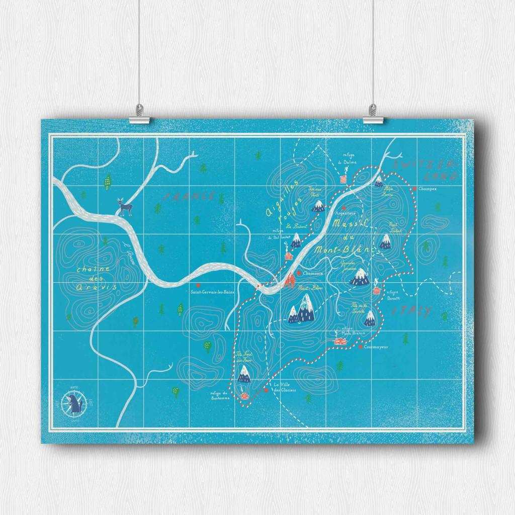 Chamonix, la route de l'UTMB version fantasie. Couverture du numéro 6 par Aurore Carric, traileuse vivant a Dijon (https://www.behance.net/aurorecarric). Disponible en poster 30x40cm.